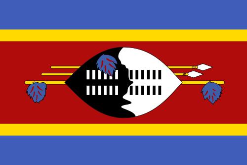 Swasiland Flagge flag of swaziland