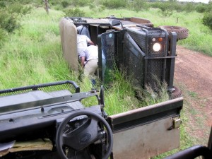 rescue from the overturned car in the hlane np swaziland