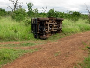 by the elephant overturned defender in the hlanew np swaziland