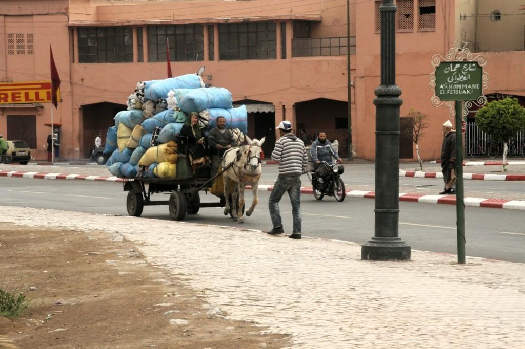 Stadtverkehr in Marrakesch