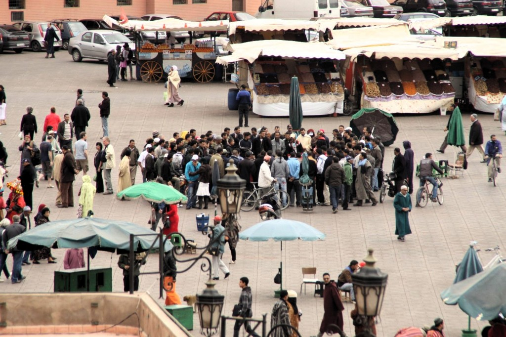 Djema el fna - der Platz in Marrakesch