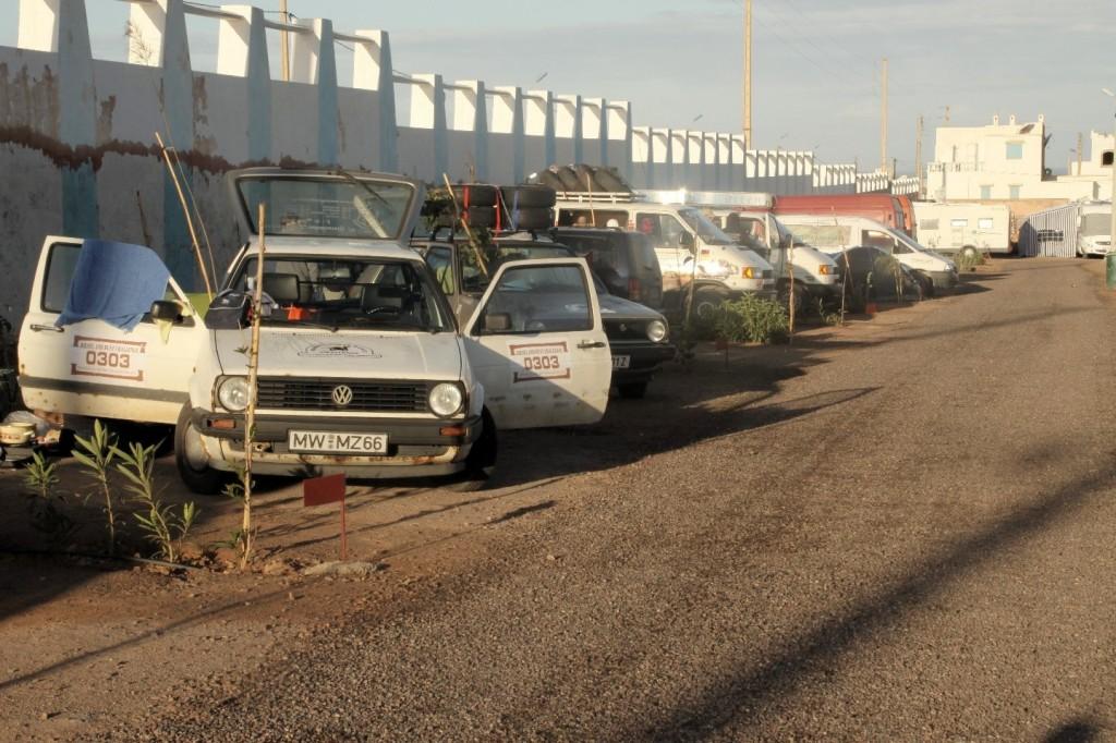 Morgenstimmung auf dem Campingplatz Aglou Plage