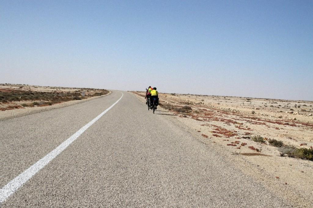 Diese zwei Radfahrer waren einige Tage unsere Begleiter