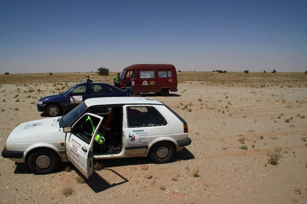 Marios alter Golf in der mauretanischen Sahara