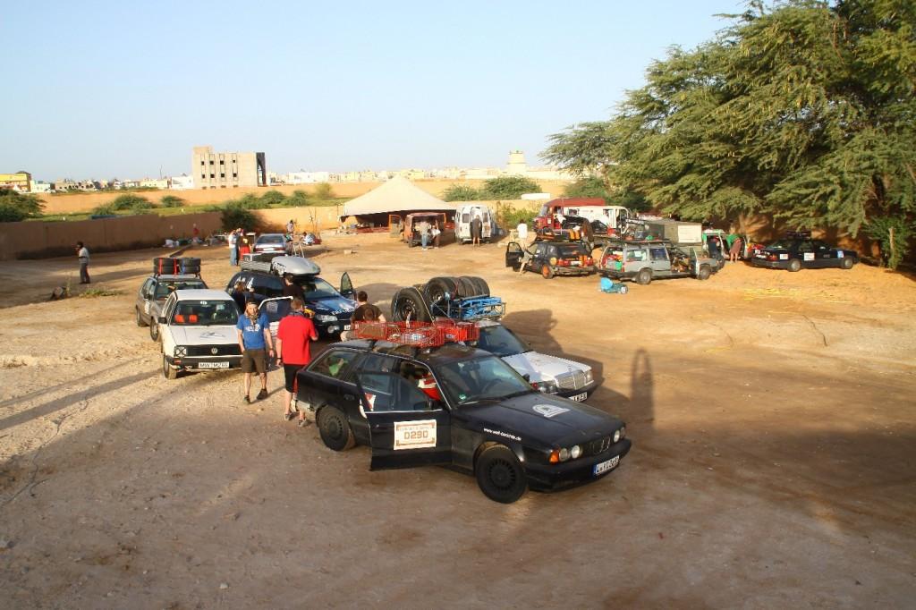 Vor der Abfahrt vom Campingplatz Nouakchott autoroute rosso