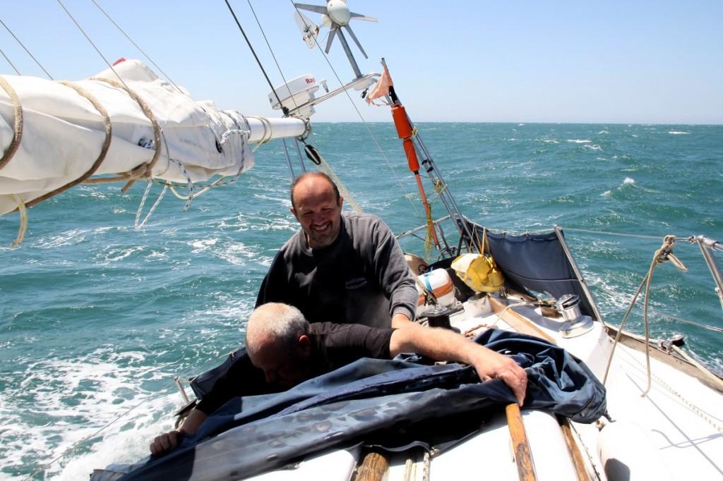 Es segelt! Wir sind auf dem Atlantik