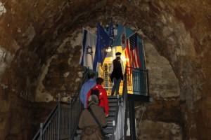 Der Ausgang des Festungsrundganges ... akko crusader castle exit