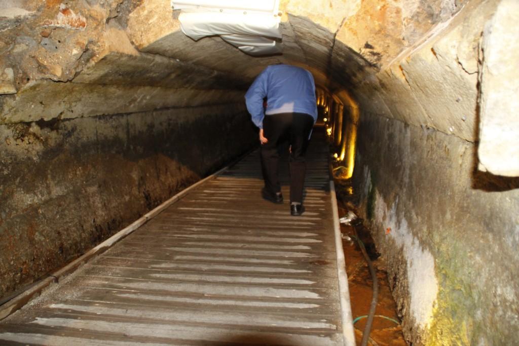 Akko Acre crusader tunnel im Tunnel unter Akko