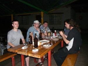 dinner after braai in clarens