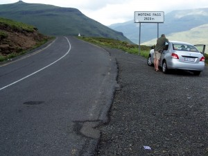 Olaf am Moteng Pass in Lesotho