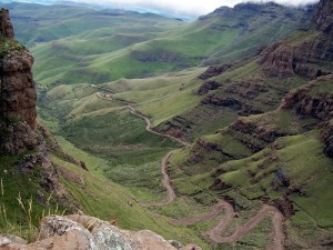 Geocaching am Sani Pass, Lesotho