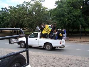 Wahlkampf / campaign in St. Lucia KwaZuluNatal