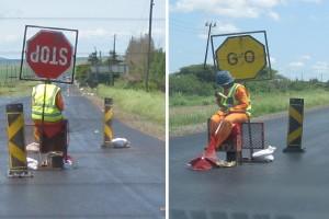"""Verkehrsampel"" auf südafrikanisch"