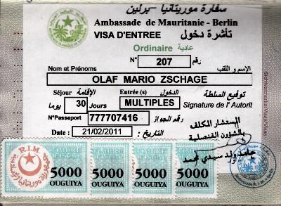 Visum Mauretanien