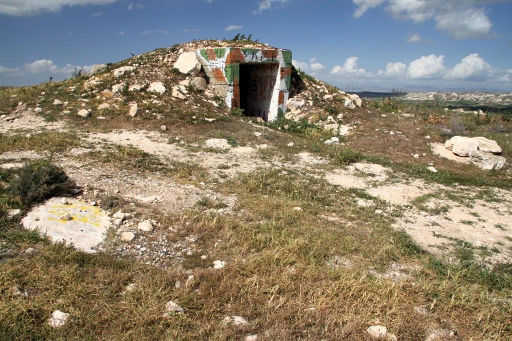 Bunker auf einem Berg Nähe Larnaka/Oroklini