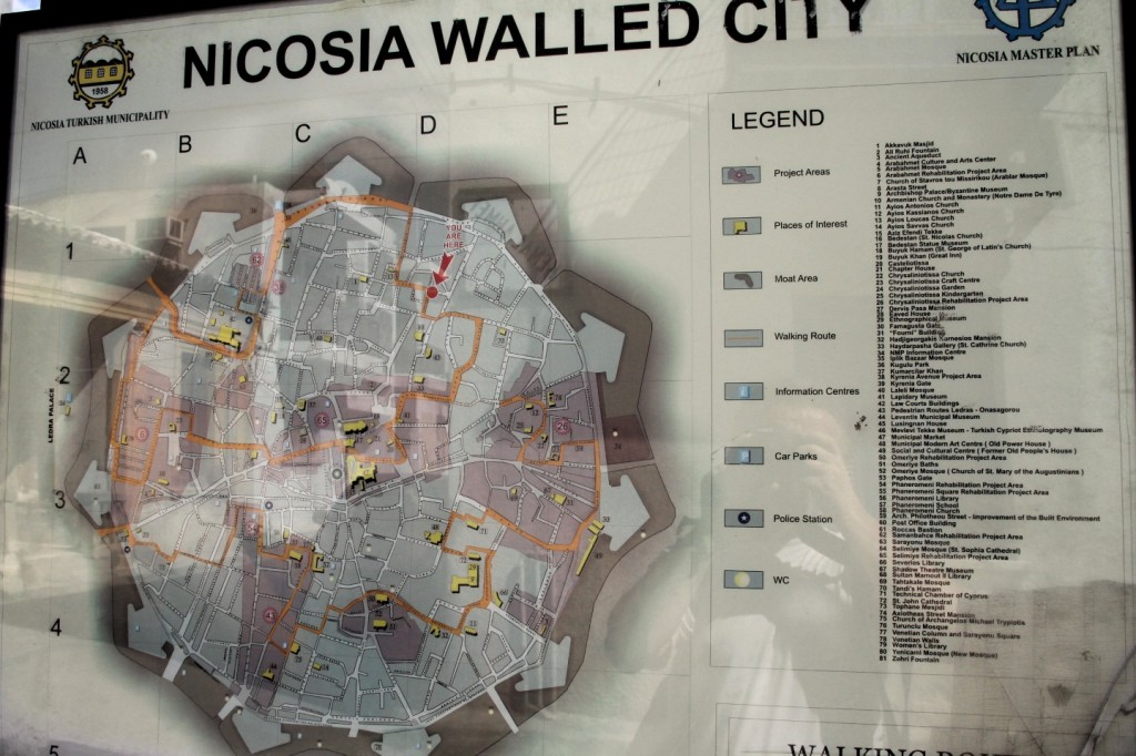 map of nikosia walled city