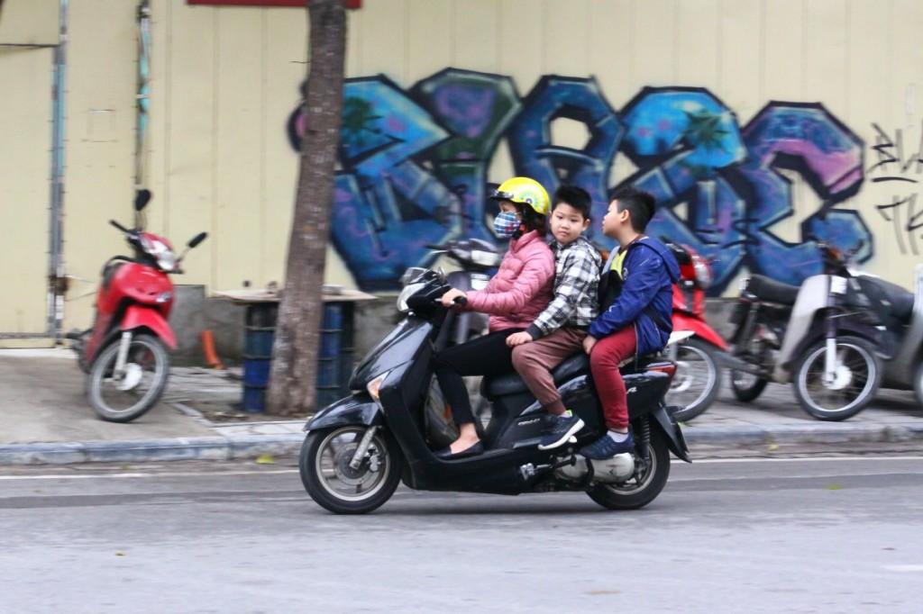 Motorrad Hanoi 2019 3 Personen