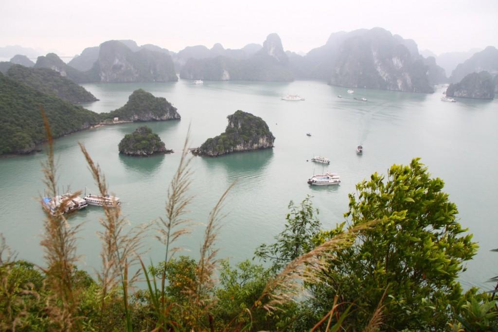 Halongbucht Vietnam Blick von Ti Tốp Island